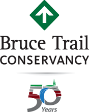 Bruce Trail Conservancy 50 year anniversary logo.
