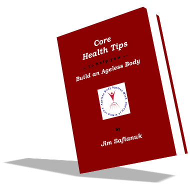 This is a larger book cover photo of the e-book entitled Core Health Tips.