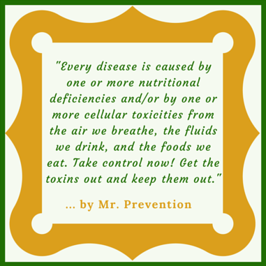 A quotation from Mr. Prevention addressing the FAQ Diets Dont Work.