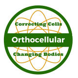 Orthocellular corporate logo with slogan Correcting Cells and Changing Bodies.