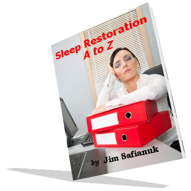 The larger cover photo shows a woman who is sleep deprived. It represents the need for quality sleep and is described fully in the e-book entitled Sleep Restoration A to Z.